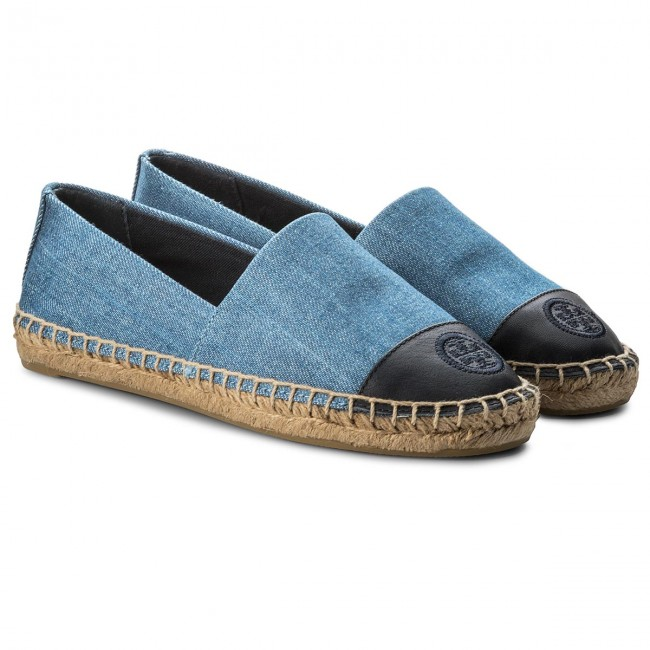 d1f44ef04c2b3 Espadrilles TORY BURCH - Color Block Flat Espadrille 46767 Denim Chambray Perfect  Navy 435 - Espadrilles - Low shoes - Women s shoes - www.efootwear.eu