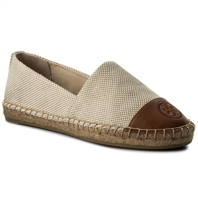 def9f494c43a Espadrilles TORY BURCH. Color Block Flat Espadrille 47016 Perfect Sand Perfect  Cuoio 241