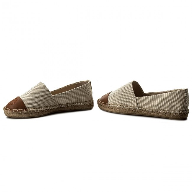 15648614bf9d Espadrilles TORY BURCH - Color Block Flat Espadrille 47016 Perfect Sand Perfect  Cuoio 241
