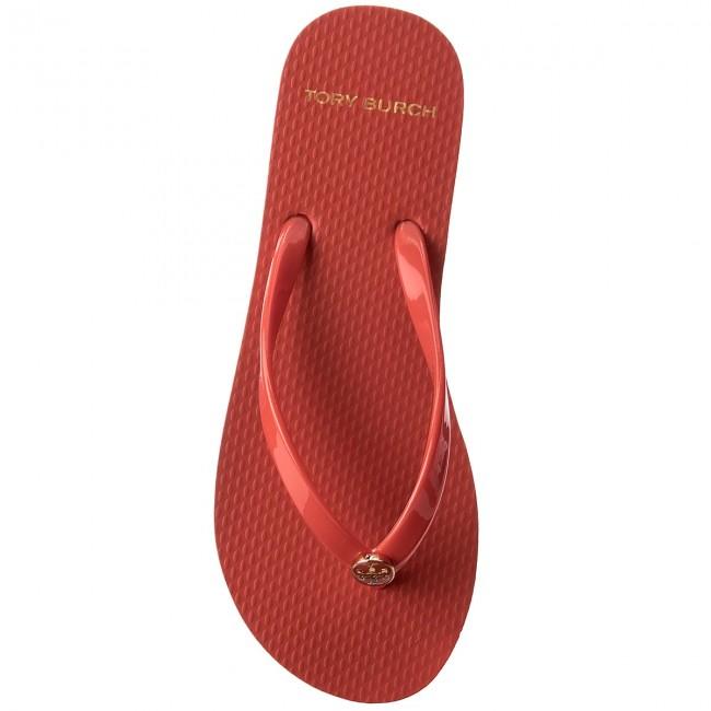 78711fb86a8c4e Slides TORY BURCH - Solid Thin Flip Flop 47405 Poppy Orange 802 - Flip-flops  - Mules and sandals - Women s shoes - www.efootwear.eu