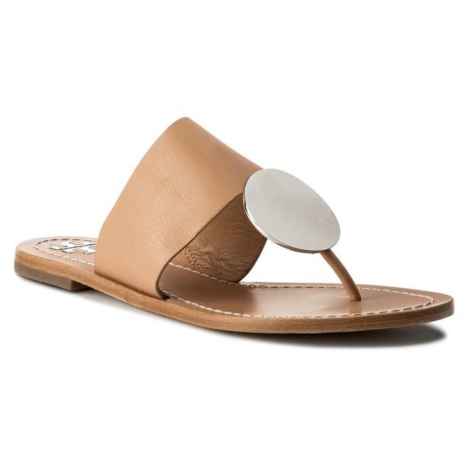 3eff1fe144094f Slides TORY BURCH - Patos Disk Sandal 46914 Natural Vachetta Silver ...