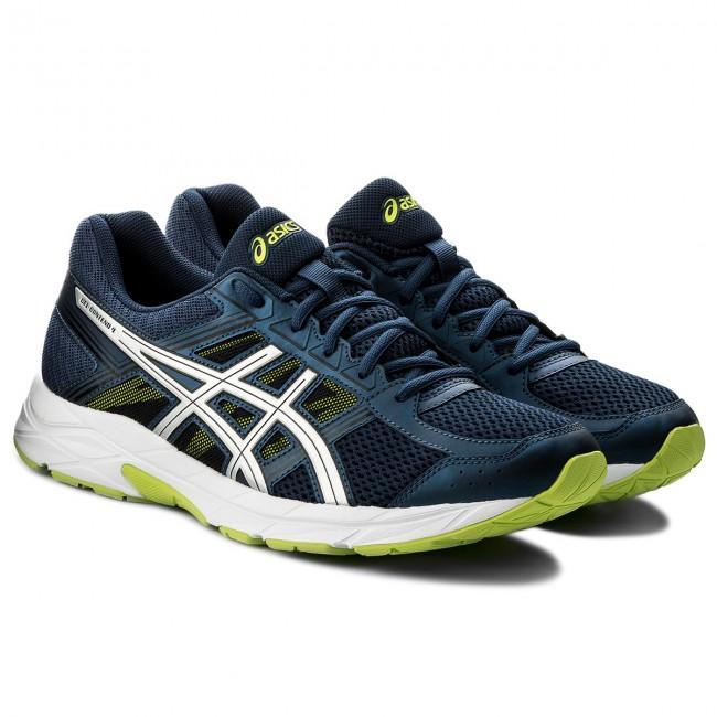 Shoes ASICS Gel Contend 4 T715N Dark BlueSilverSafety Yellow 4993