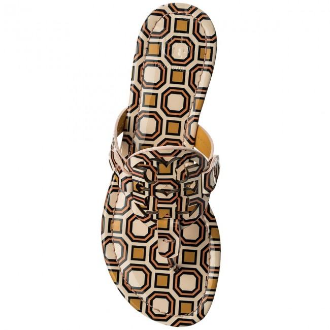 e93e3e90835bf5 Slides TORY BURCH - Miller 40173 Ballet Pink Octagon Square 672 -  Flip-flops - Mules and sandals - Women s shoes - www.efootwear.eu