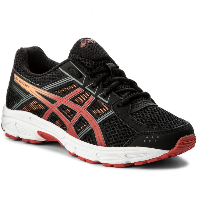Shoes ASICS - Gel-Contend 4 Gs C707N Black Fiery Red Shocking Orange ... d07e0d262