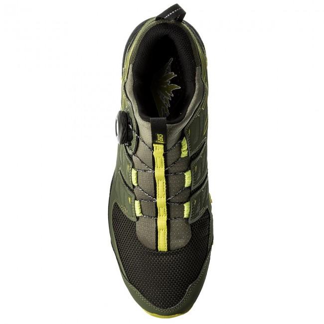Shoes ASICS Gel FujiRado T7F2N Four Leaf CloverSulphur SpringBlack 8189