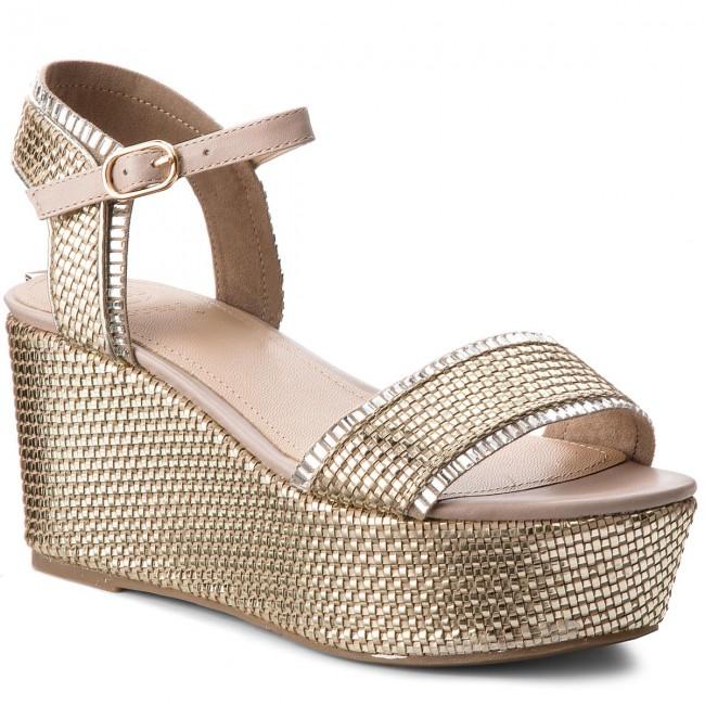 6c0f75bbfe0 Sandals GUESS - Lissa2 FLLS22 LEL03 PLATI - Wedges - Mules and ...