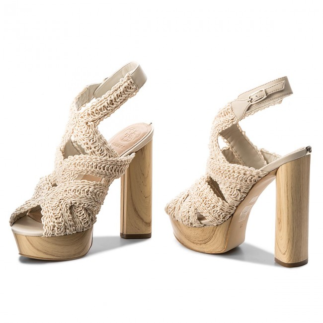 e5a782219ab Sandals GUESS - Milana FLMLN2 FAB03 MILK - Casual sandals - Sandals ...