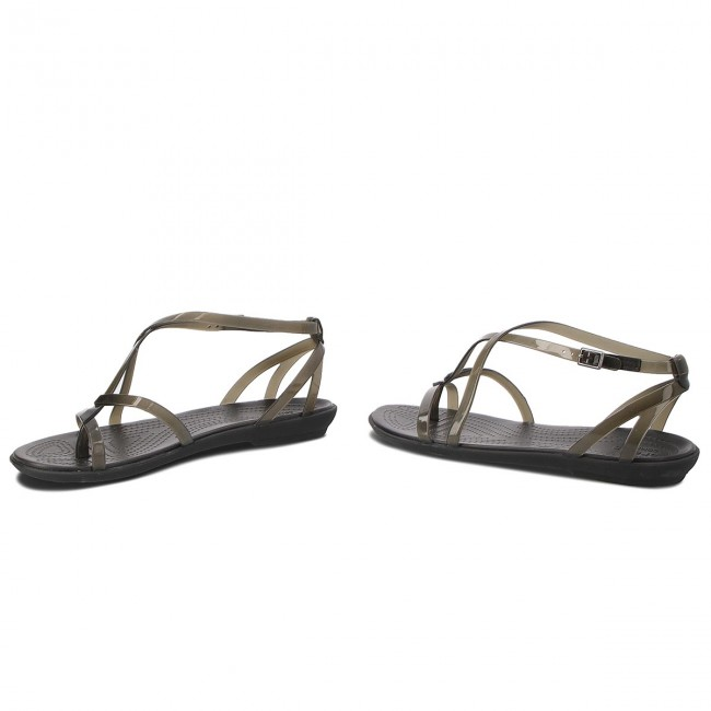 14b49885876f Sandals CROCS - Isabella Gladiator Sandal W 204914 Black Black ...