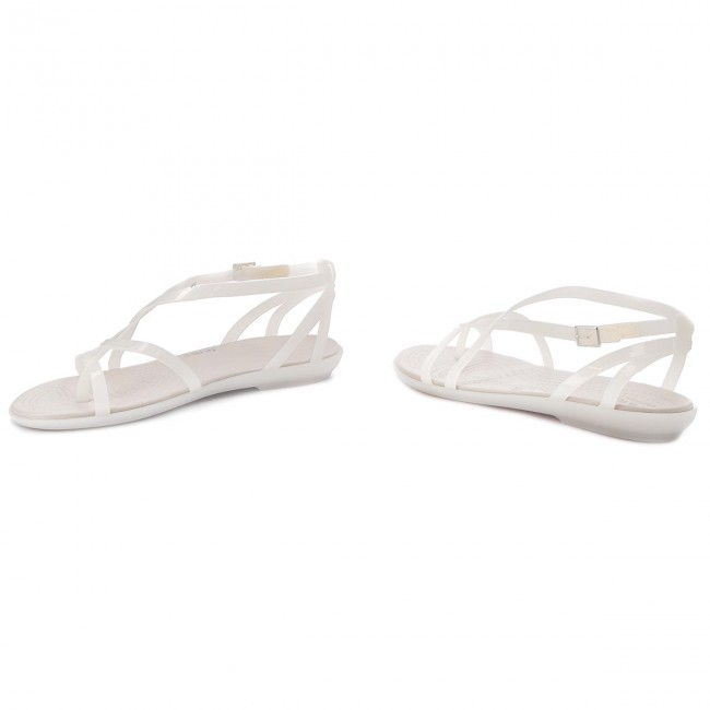 99fd1bf6dc31 Sandals CROCS - Isabella Gladiator Sandal W 204914 Oyster Pearl White