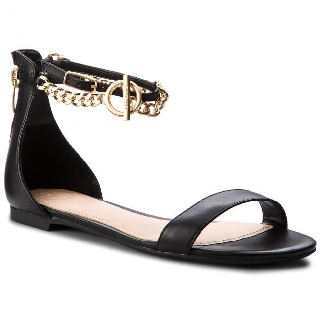 Sandals GUESS - Ronalda FLRON2 LEA03 BLACK - Casual sandals ... 2f4d266d60