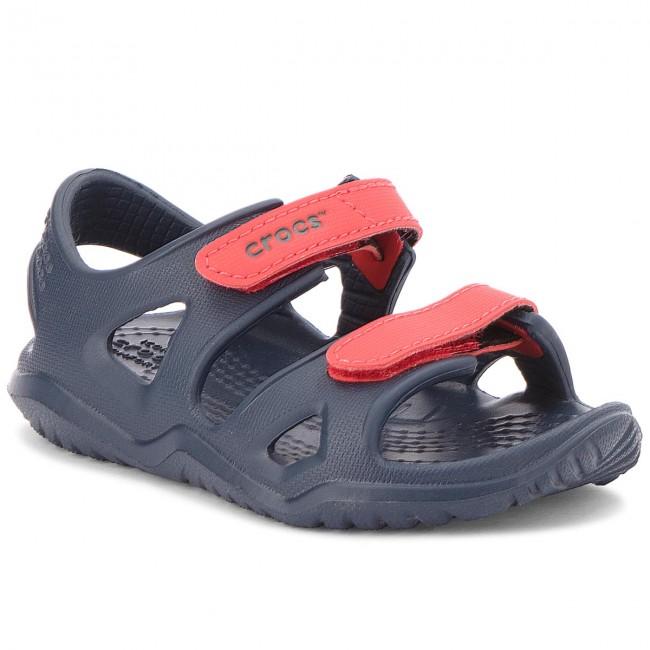 bc693abefa33 Sandals CROCS - Swiftwater River Sandal K 204988 Navy Flame ...