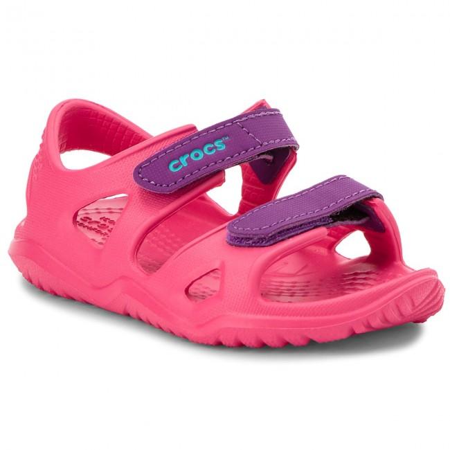 af7f6ab3f8a2 Sandals CROCS - Swiftwater River Sandal K 204988 Paradise Pink ...