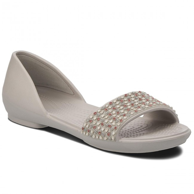 Sandalen CROCS - Lina Embellished Dorsay 204361 Pearl White/Rose Gold 49DBc