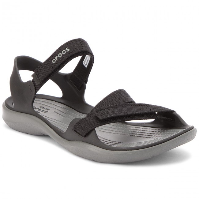 4b72c4f7cc13 Sandals CROCS - Swiftwater Webbing Sandal W 204804 Black - Casual ...