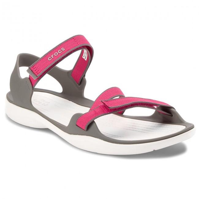 ba3573e000f5 Sandals CROCS. Swiftwater Webbing Sandal W 204804 Paradise Pink Smoke