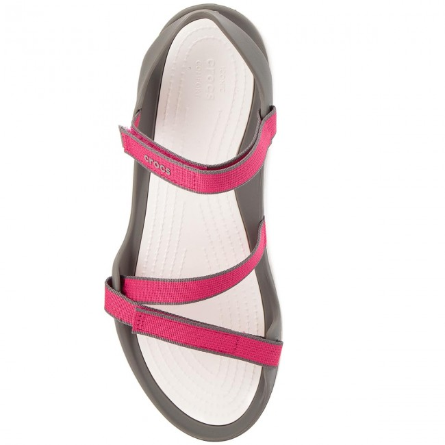 ea2ad4df4c4a Sandals CROCS - Swiftwater Webbing Sandal W 204804 Paradise Pink Smoke -  Casual sandals - Sandals - Mules and sandals - Women s shoes -  www.efootwear.eu