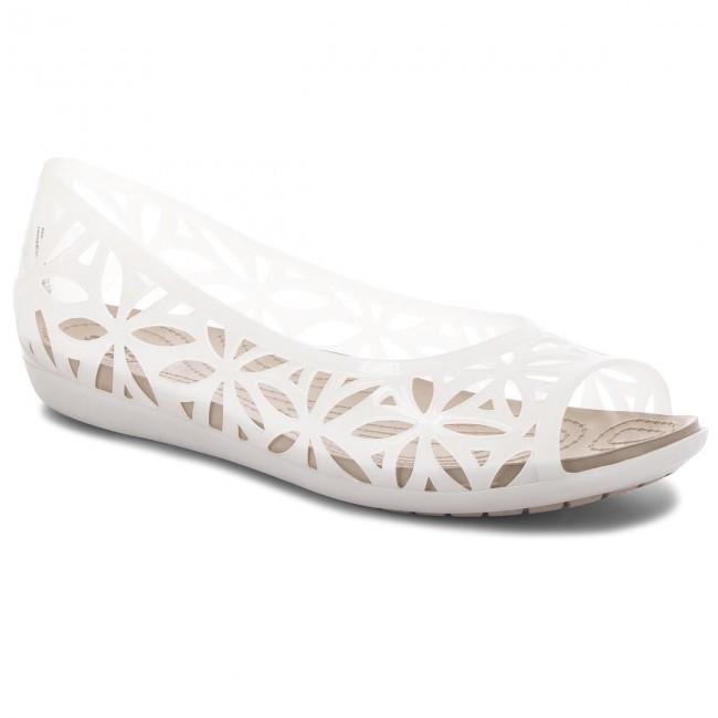 7e45a77c7 Shoes CROCS - Isabella Jelly II Flat W 204941 Oyster Cobblestone ...