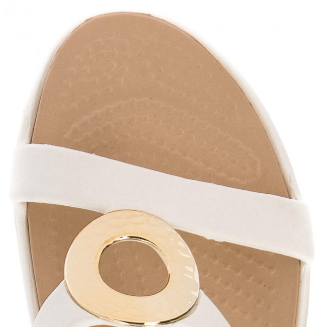 969cd9fd3b372a Slides CROCS - Sanrah Hammered Met Sandal W 205137 Oyster Gold - Casual  mules - Mules - Mules and sandals - Women s shoes - www.efootwear.eu