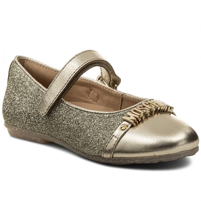 Shoes MOSCHINO - 25883 Oro - Velcro - Low shoes - Girl - Kids  shoes ... 9fd95b1bd33d1