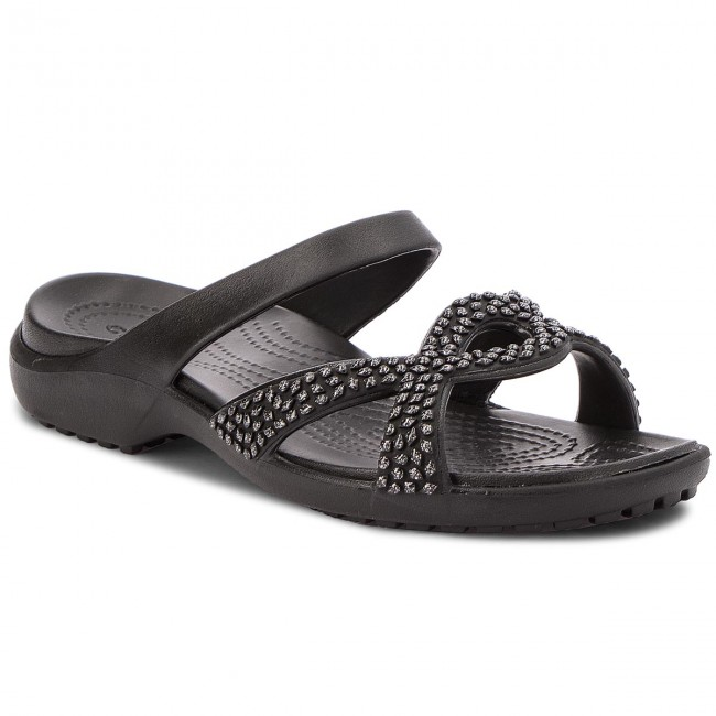BlackBlack 205101 CROCS Meleen Sandal Slides Twist Diamante qHwgv