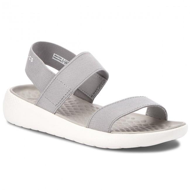 f96d7e242813 Sandals CROCS - Literide Sandal W 205106 Light Grey White - Casual ...