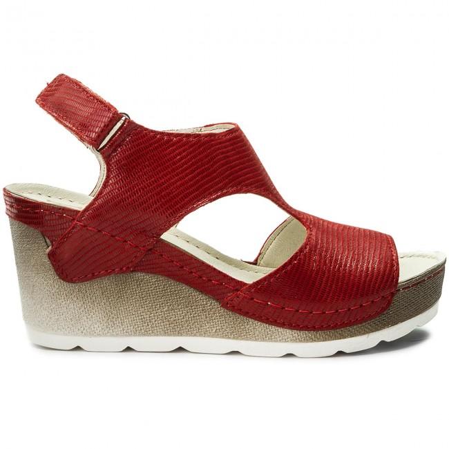 Sandalen DOLCE PIETRO - 0888-017-01-0 Czerwony Fol xG6MLNNb4i