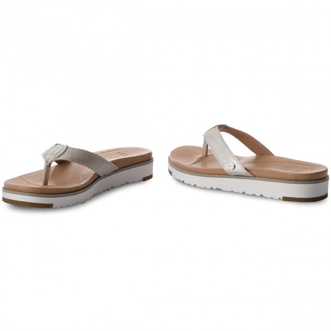 8dacce5e32c3 Slides UGG - Lorrie Metallic 1019864 W Slvr - Flip-flops - Mules and ...