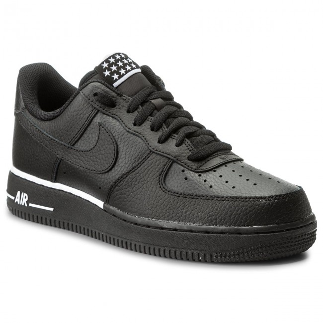 detailed pictures 63ea2 2cc68 Shoes NIKE. Air Force 1  07 AA4083 009 Black Black White