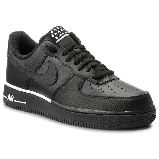 Shoes NIKE Air Force 1 '07 AA4083 009 Black/Black/White Sneakers