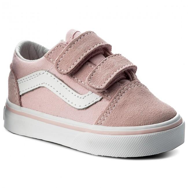 Plimsolls Vans Old Skool V Vn0a344kq7k Suedecanvas Chalk Pink