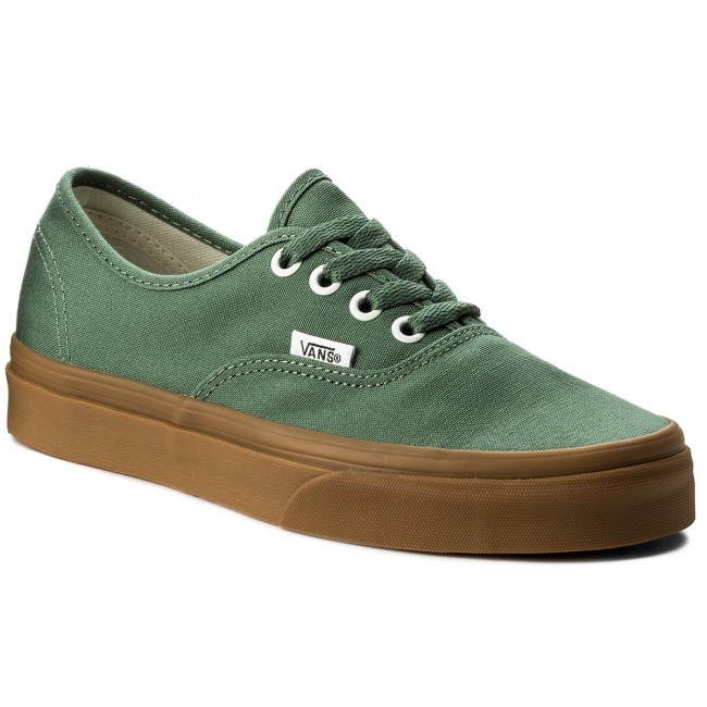 db3b66bd583 Plimsolls VANS - Authentic VA38EMQ9V Duck Green Gum - Sneakers - Low ...