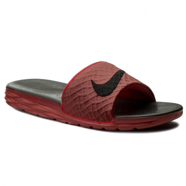 Slides NIKE - Benassi Solarsoft 705474 600 University Red/Black