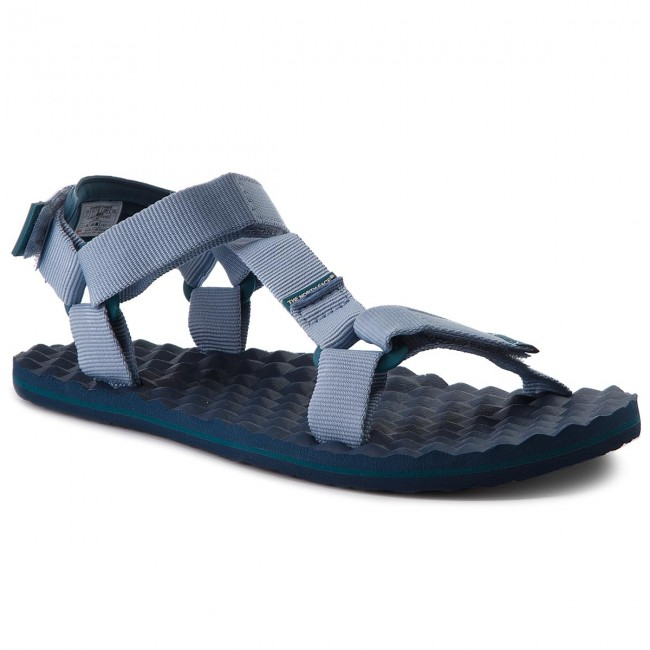 The North Face BASECMP SWITCHBACK - Walking sandals - dusty blue/blue coral WW1s1