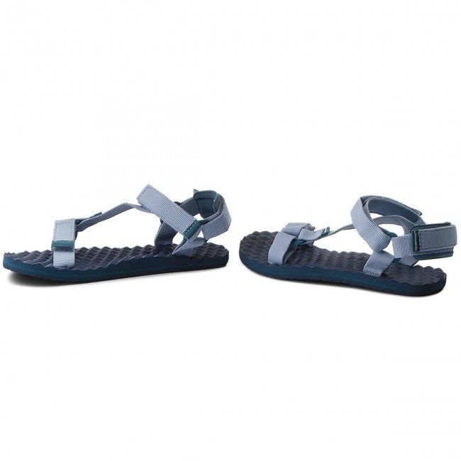 The North Face BASECMP SWITCHBACK - Walking sandals - dusty blue/blue coral yVfNRVn