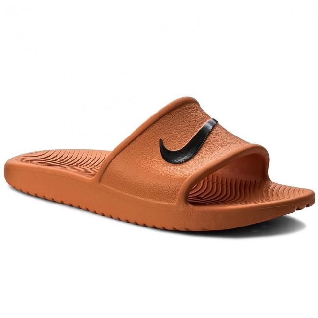 check out 564aa 616e3 Slides NIKE - Kawa Shower 832528 800 Solar Orange Black - Clogs and ...