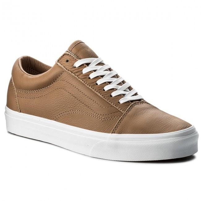 501f59884c5 Plimsolls VANS - Old Skool VN0A38G1R0S (Leather) Tawny Brown True White