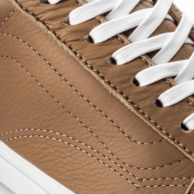 bda520e01c2bb1 Plimsolls VANS - Old Skool VN0A38G1R0S (Leather) Tawny Brown True White