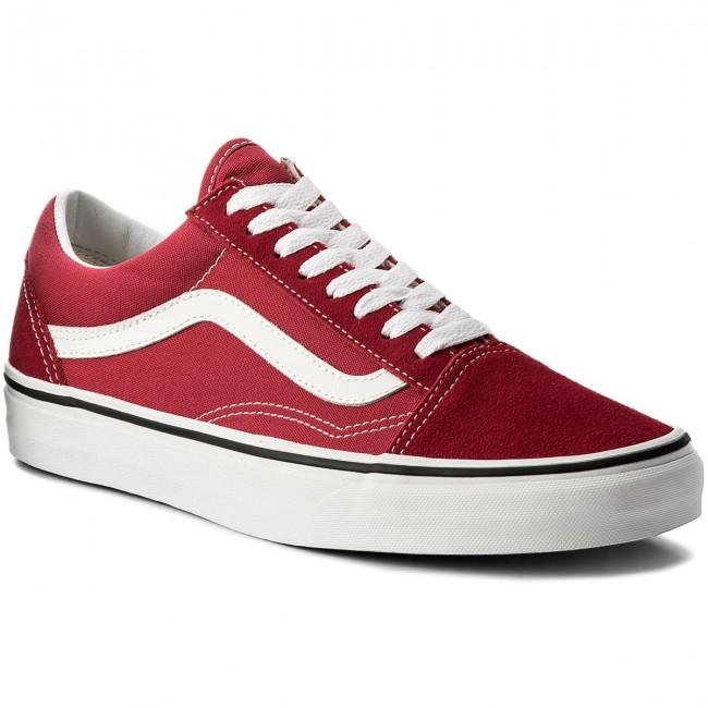 Vn0a38g1q9u Old Skool Plimsolls White Vans Sneakers Crimsontrue fwtZg5