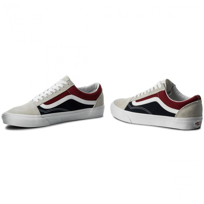 18b9ce137a8674 Plimsolls VANS - Old Skool VN0A38G1QKN (Retro Block) White Red D ...