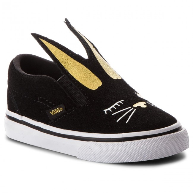 b9e6a22ee2cf Shoes VANS - Slip-On Bunny VN0A3MTZZX1 Black Gold - Slided shoes ...