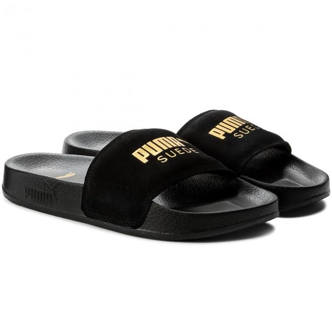 368243711cef3 Slides PUMA - Leadcat Suede 365758 01 Puma Black Puma Team Gold - Casual  mules - Mules - Mules and sandals - Women s shoes - www.efootwear.eu