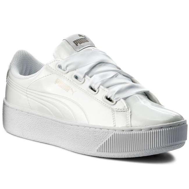 PUMA Vikky Platform RIBBON P Sneaker Scarpe Donna 366419 02 White