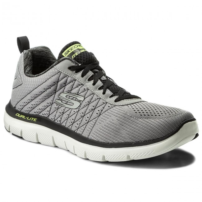 cc692ea67899 Shoes SKECHERS - The Happs 52185 LGBK Light Gray Blk - Fitness ...