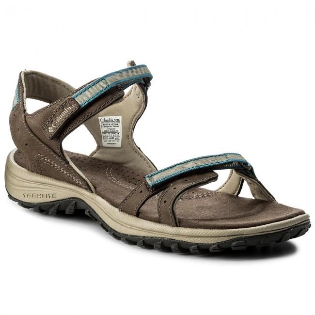 Columbia Santiam Sandals Women Mud/Canyon Blue US 5 pRgf7ZPE