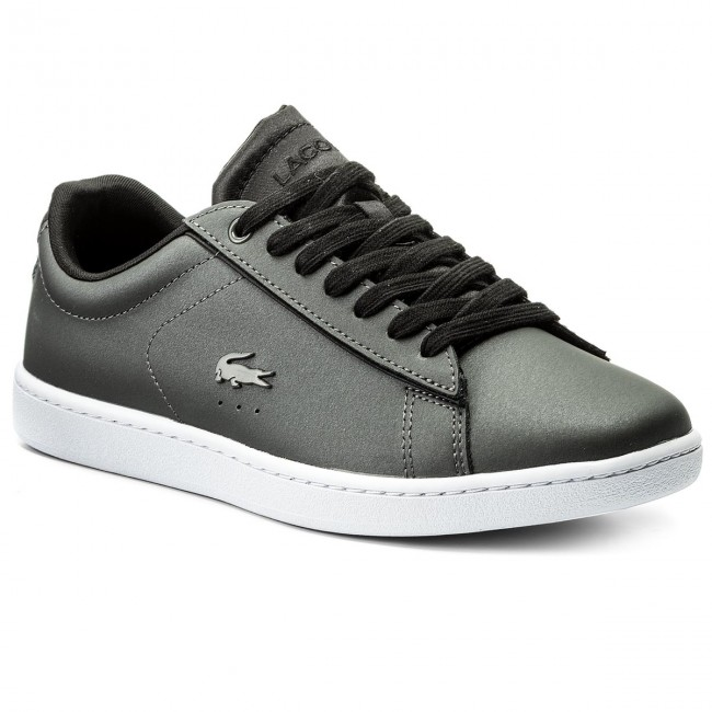 07fb7b23f7 Sneakers LACOSTE - Carnaby Evo 118 7 Spw 7-35SPW00142B6 Dk Gry/Blk ...
