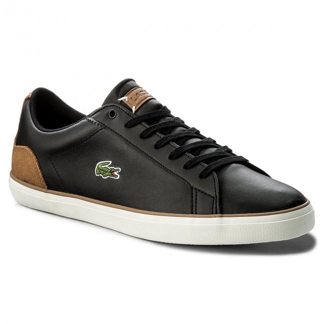 39183e2cae127 Sneakers LACOSTE - Lerond 118 1 Cam 7-35CAM0074CA1 Black Light Brown ...