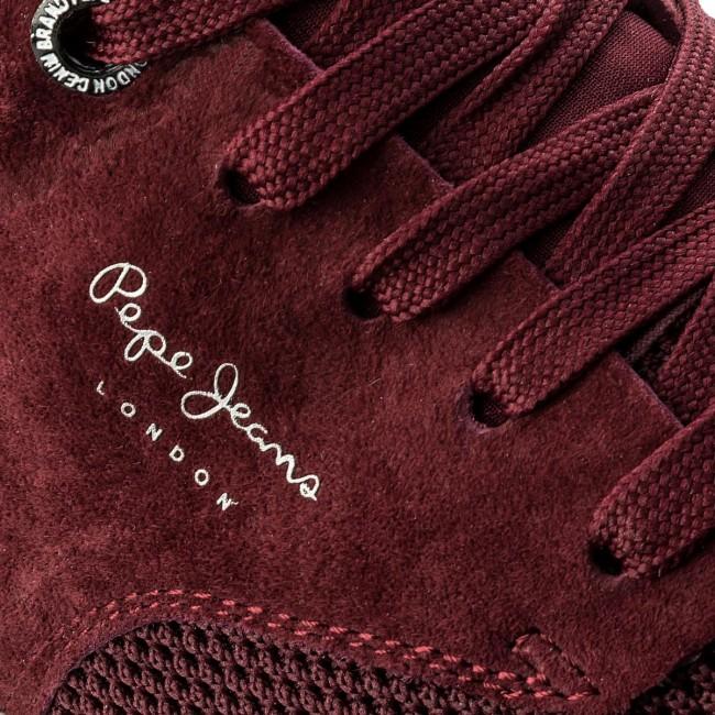 4e6841facf7 Sneakers PEPE JEANS - Jayden Tech PMS30410 Bordeaux 298 - Sneakers ...