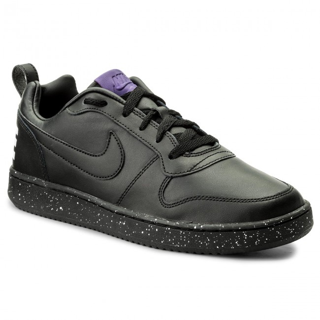 Shoes NIKE - Court Borough Low 916760 002 Black/Black/White/Court Purple