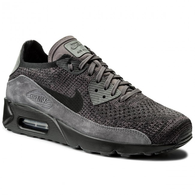 0b4a99464304c Shoes NIKE. Air Max 90 Ultra 2.0 Flyknit 875943 008 Thunder Grey Black ...