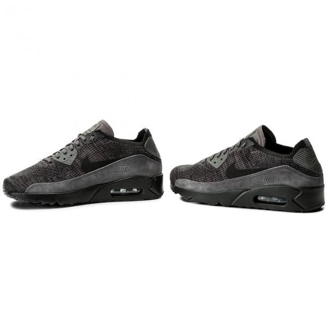 Shoes NIKE Air Max 90 Ultra 2.0 Flyknit 875943 008 Thunder GreyBlack Dark Grey
